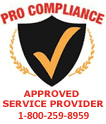 Pro Compliance Approved Service Provider - 1-800-259-8959
